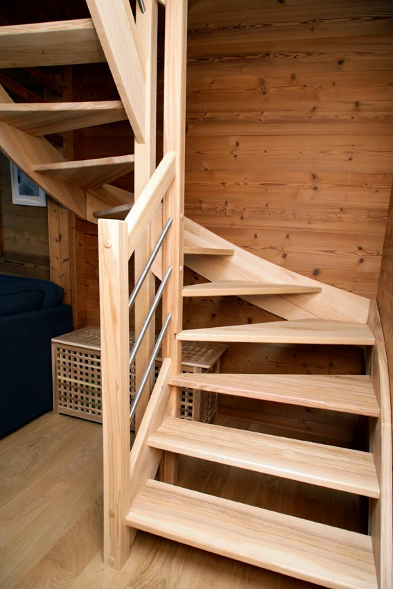 Escalier - Chalet de Jade