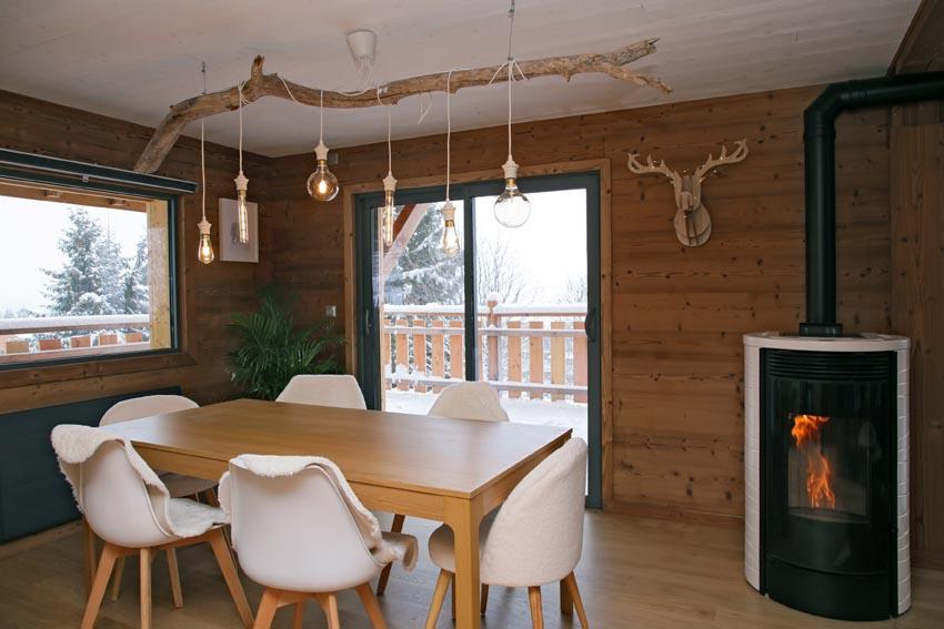 Une salle de séjour - Chalet de Jade
